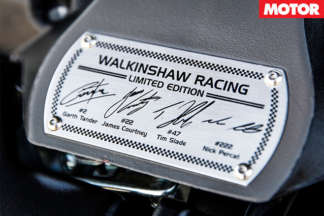 Walkinshaw Racing limited Edition badge