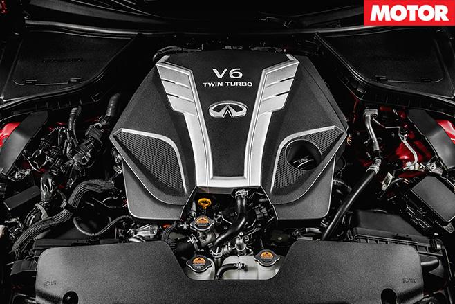 Infiniti Q50 debuts twin turbo V6 engine
