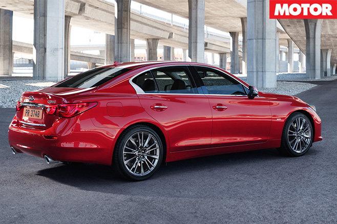 Infiniti Q50debuts twin turbo V6 rear
