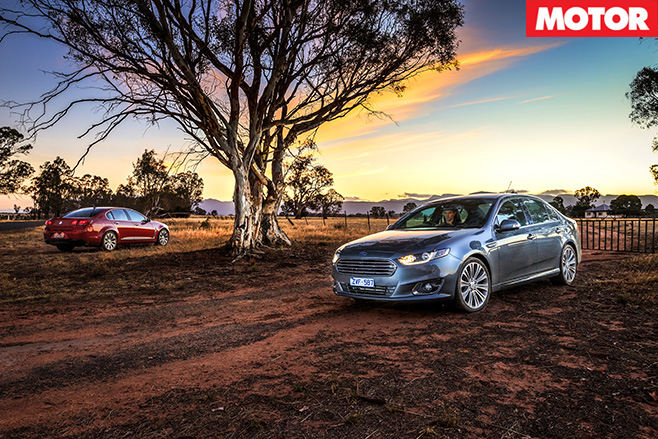 Holden Calais V and Ford Falcon G6E Turbo Grampians