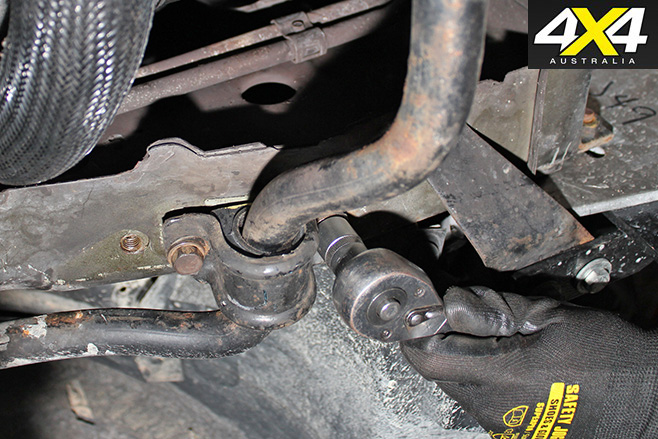 Clamp down new sway bar and bushings