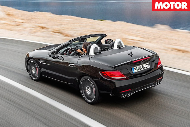 Mercedes AMG SLC43 replaces SLK55 rear