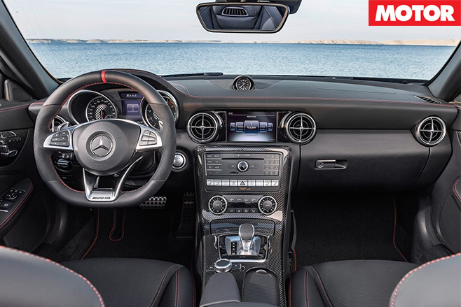 Mercedes AMG SLC43 replaces SLK55 interior