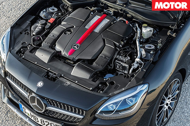 Mercedes -AMG-SLC43-replaces -SLK55-engine