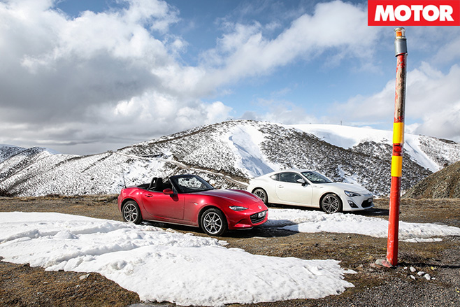 Mazda MX-5 and Toyota 86 Mount Hotham