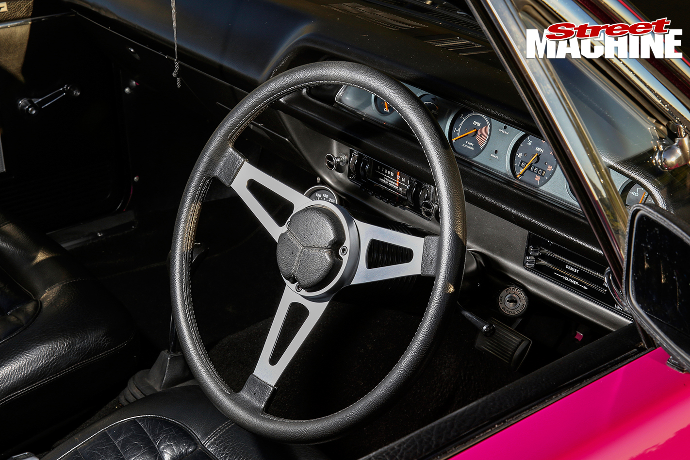 Valiant -RT-Charger -interior -steering -wheel