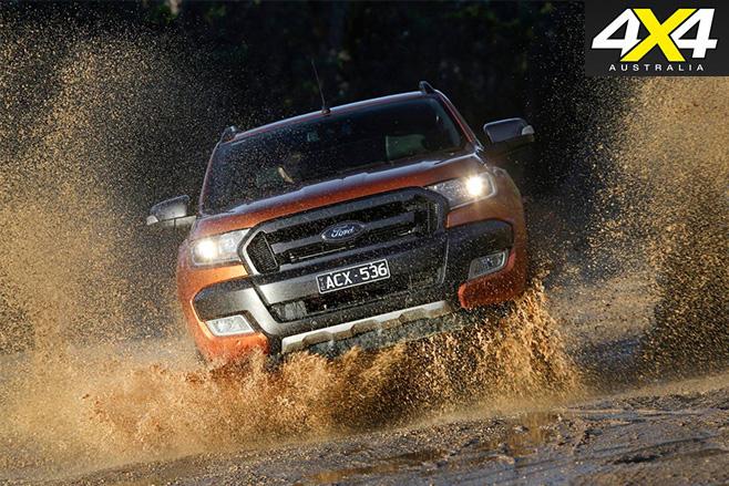 Ford -Ranger -Wildtrak -water -driving