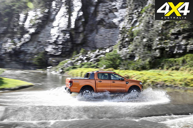 Ford Ranger Wildtrak in the elements