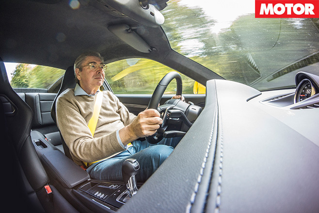 Georg Kacher driving