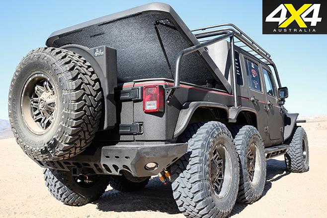 6x6 hellhog jeep wrangler rear boot