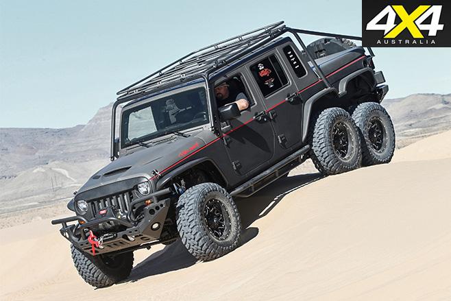 6x6 hellhog sand driving 4WD