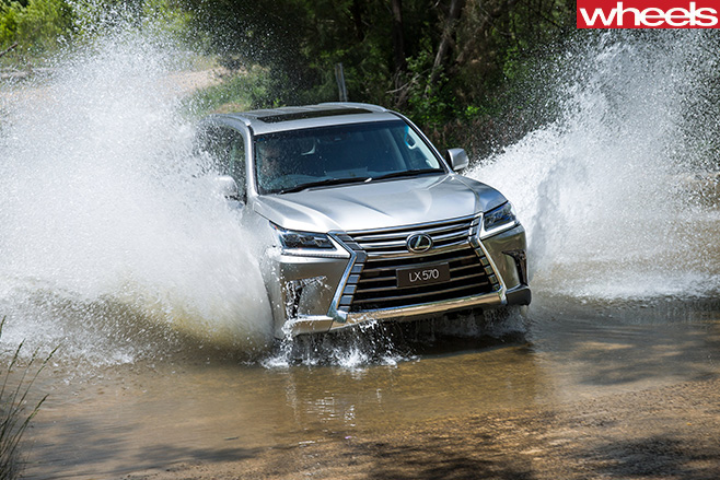 Lexus -LX570-driving -through -water