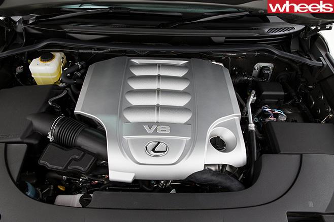 Lexus -LX570-engine
