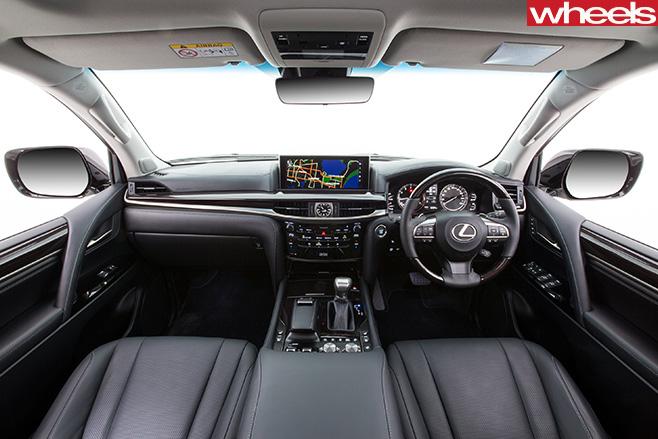 Lexus -LX70-interior -front -seats -dash