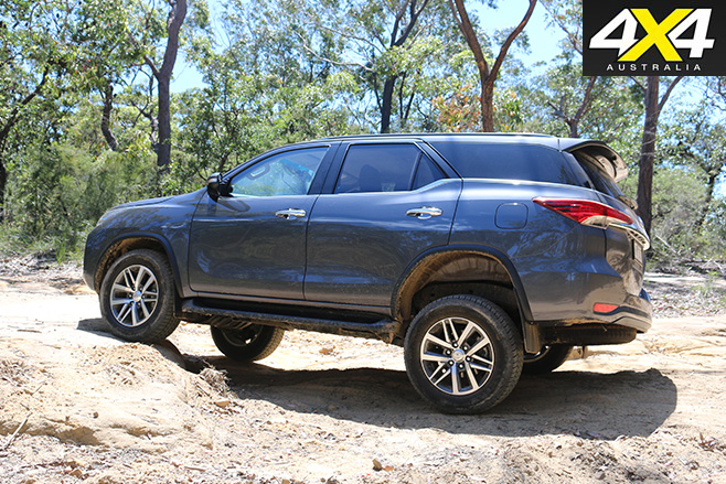 Toyota fortuner crusade rear side
