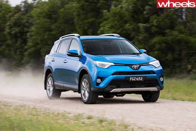 Toyota -RAV4-driving -front