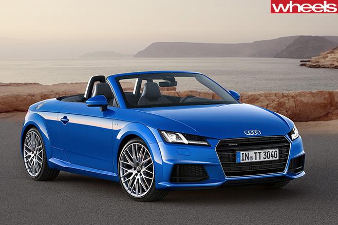 Blue -Audi -TT-front