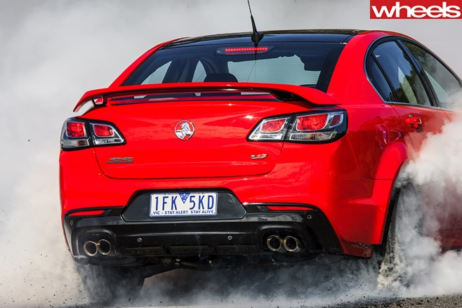 Holden -Commodore -V8-Burnout