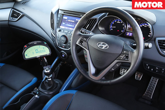 Hyundais veloster raptor turbo interior