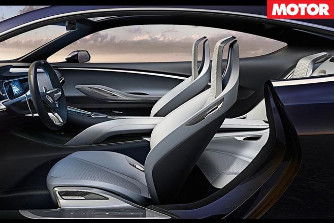 Buick Avista concept interior side