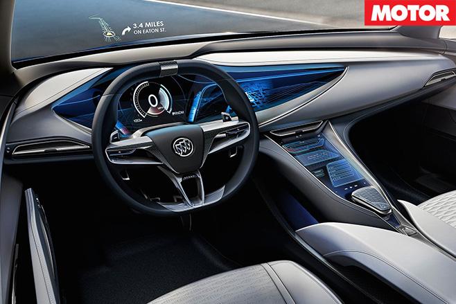 Buick Avista concept dashboard