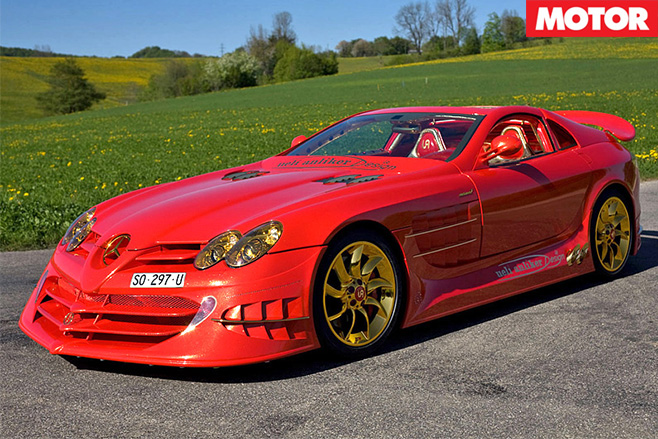 Red gold mercedes-benz slr