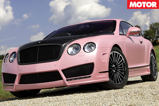 Mansory -vitesse -rose -bentley