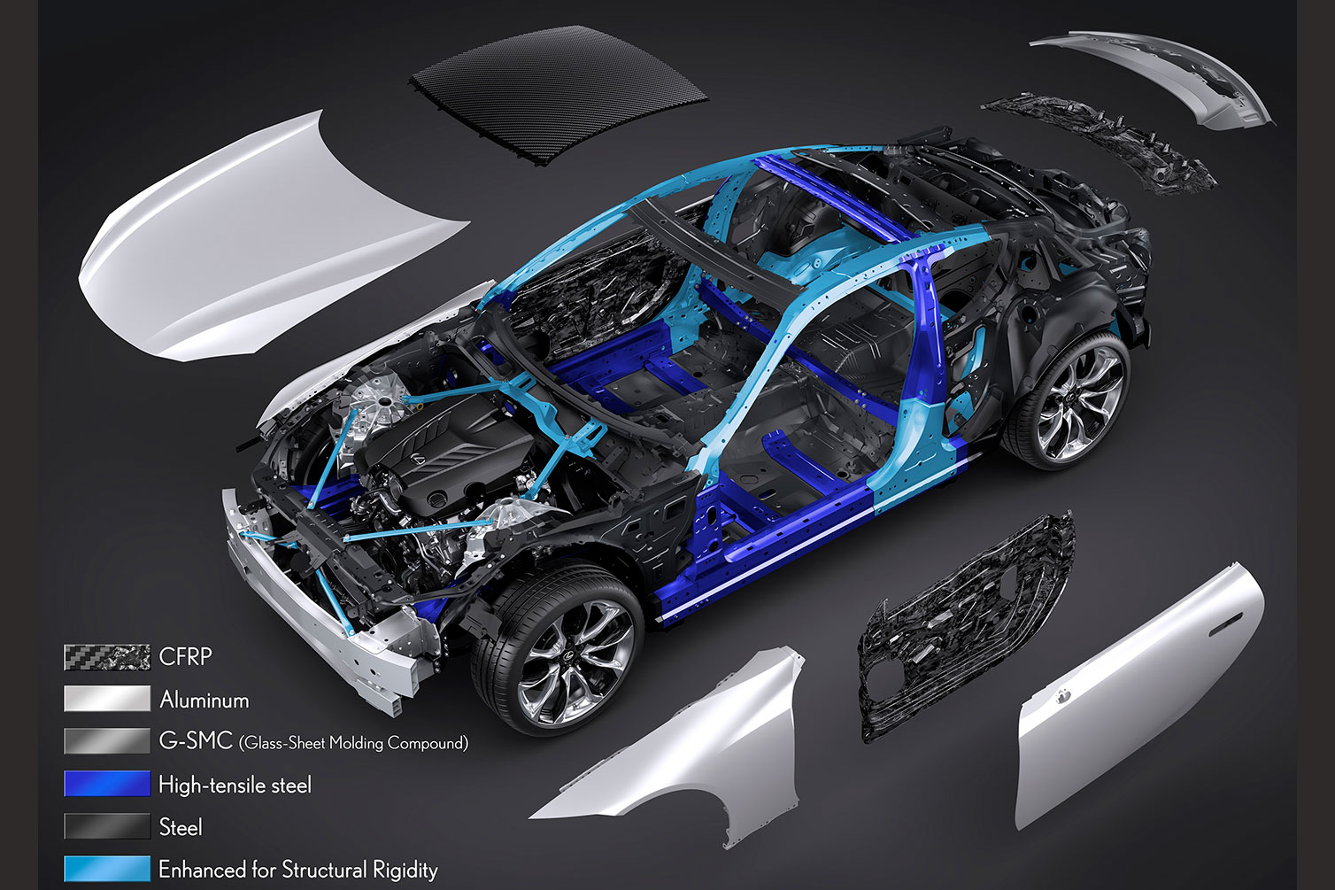 Lexus -LC-deconstructed