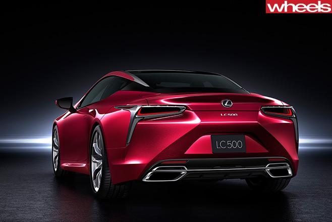 Lexus -LC500-rear