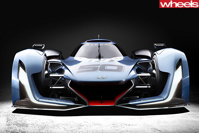 Hyundai -Supercar -headlights -front -top