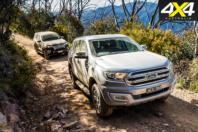 Ford everest and toyota fortuner