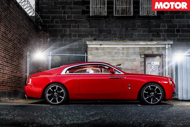 Rolls royce wraith side