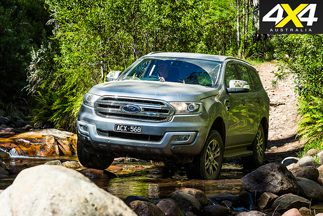 Ford everest trend dirt front