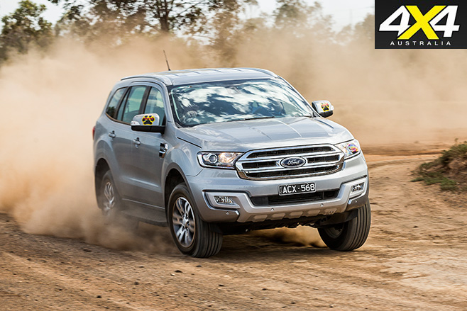 Ford everest trend dirt road