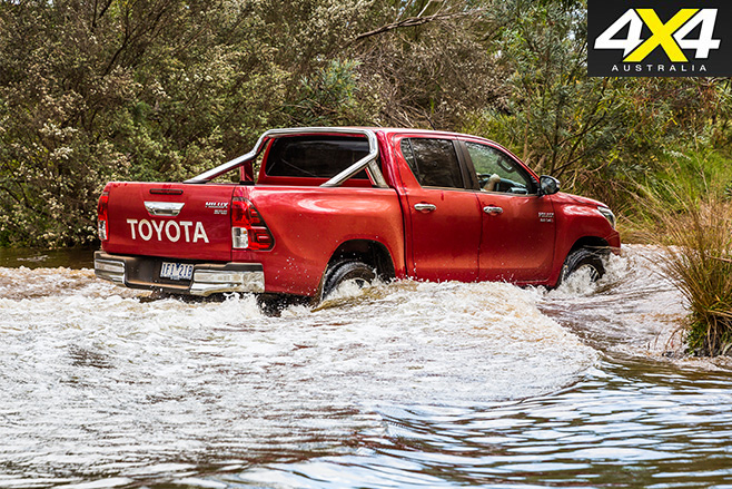 Toyota hilux water