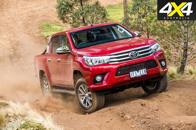 Toyota hilux uphill