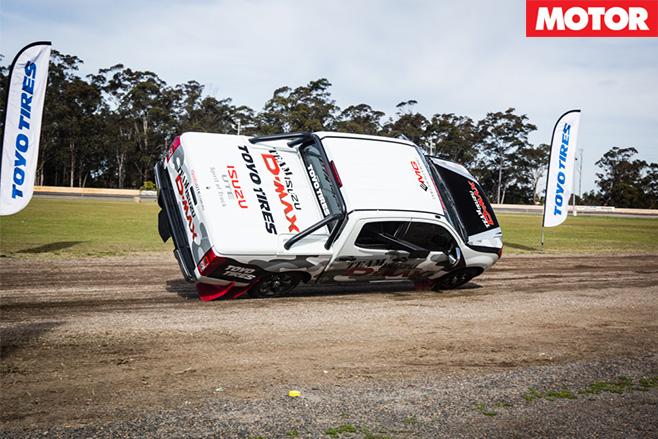 Stunt driving car roll