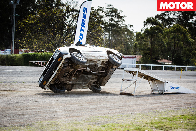 Stunt driving car ramp