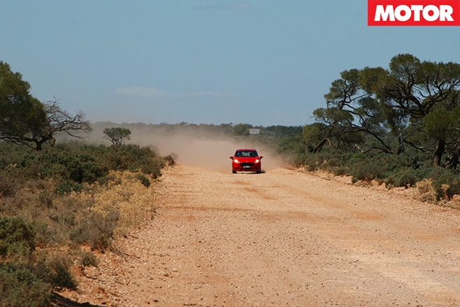 Ford fiesta st long term driving dirt road
