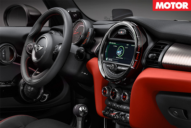 Mini jcw convertible dashboard