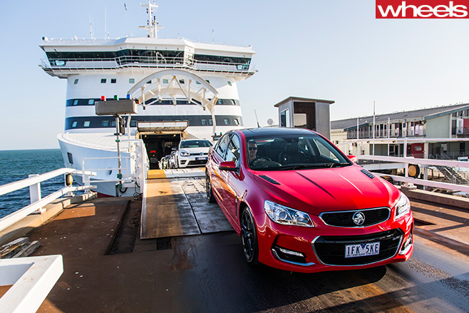 Holden -Commodore -SS-V-on -Spirit -of -Tasmania