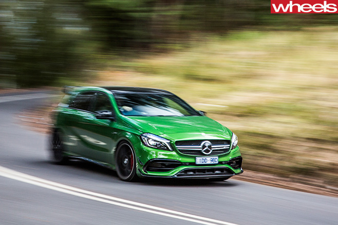 Mercedes -AMG-A45-driving -front