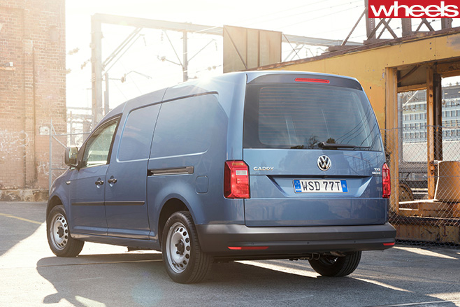 VW-Caddy -rear -parked