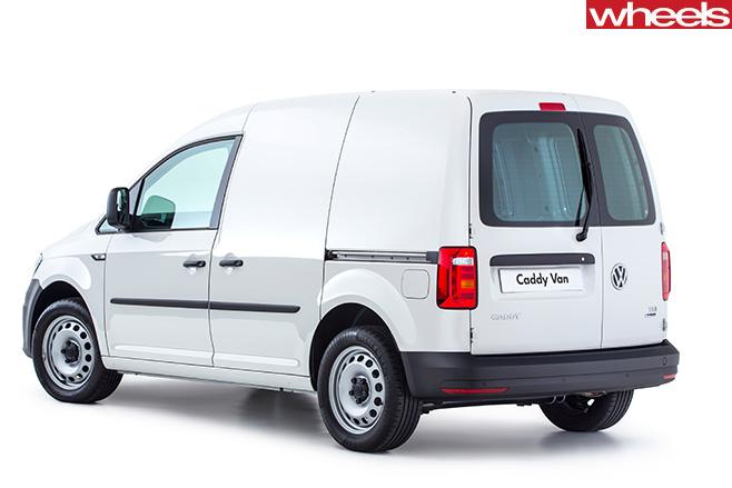 VW-Caddy -rear -white