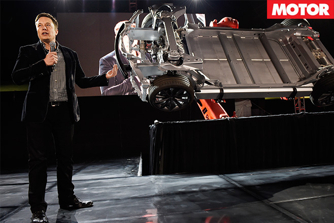 Elon musk unveils the dual