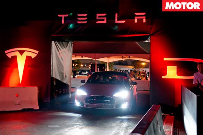 Tesla car show