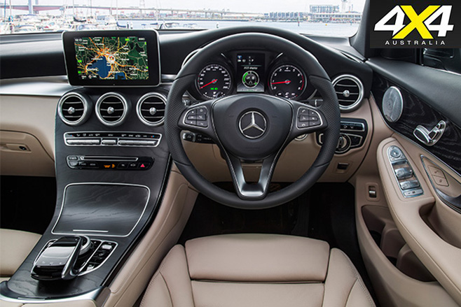 Mercedes -Benz GLC interior steering wheel