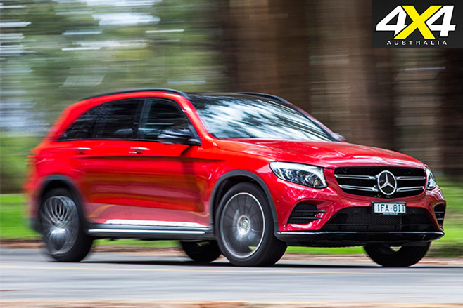 Mercedes-Benz GLC front side driving around corner