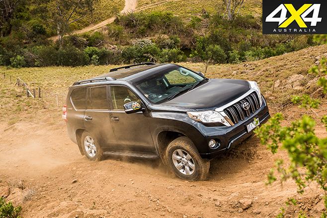 Toyota prado uphill driving