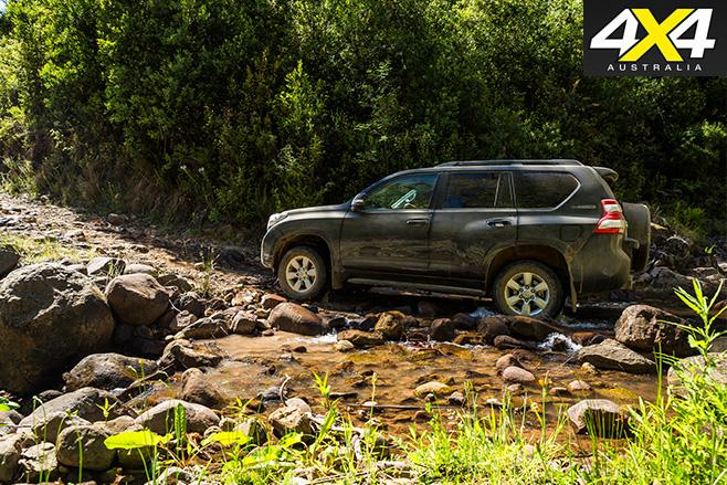 Toyota prado rock driving